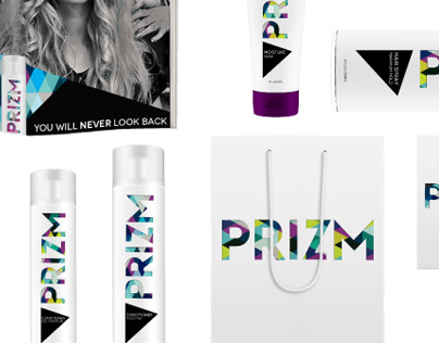 """BRAND AND IDENTITY DESIGN   """"PRIZM"""" HAIR PRODUCT LINE"""