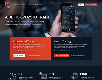 DF Markets Website UI/UX