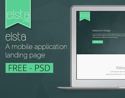 elsta  - A mobile application landing page (FREE PSD)
