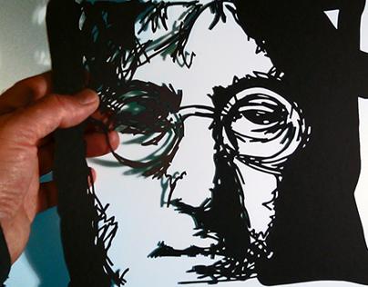 Hand cut Paper Art works. Portraits