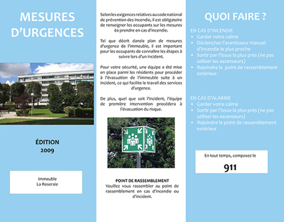 Emergency Measures Brochure (French)