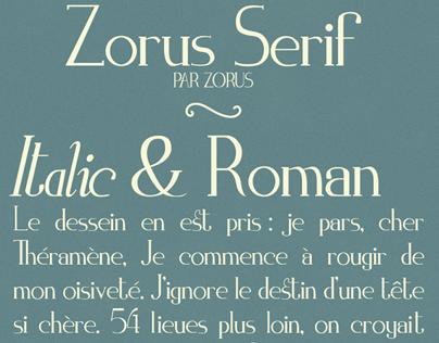 Zorus Serif Free Font