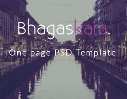 Bhagaskara - Onepage PSD Template