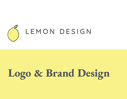 Lemon Design Logo and Branding