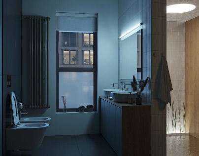 Manhattan modern bathroom
