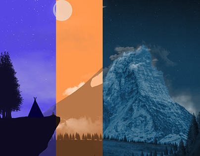 2D Landscape Day and Night