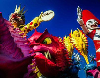 Carnevale di Viareggio; a papier mache' universe.