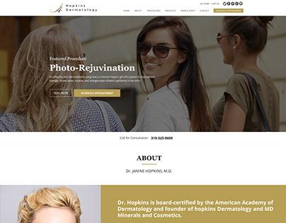 Hopkins Dermatology Website Design
