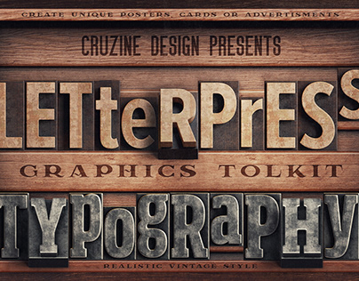 Vintage Letterpress Typography Toolkit
