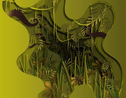Paper cut out jungle