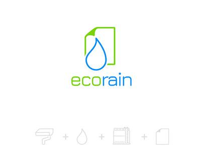 EcoRain - design loga