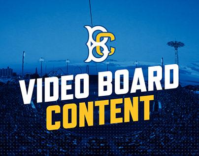 Brooklyn Cyclones - Video Board Content