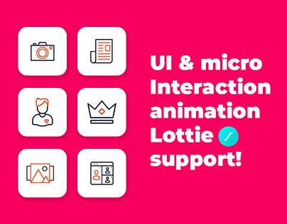 UI & micro Interaction animation with Lottie support!