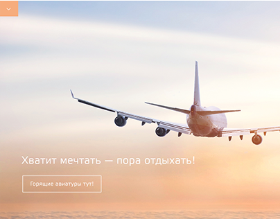 Airplane agency landing page