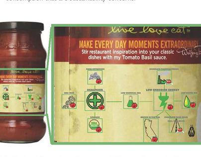 Sustainable Food Tool: Jarred Tomato Sauce