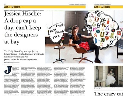 Guardian Double Page Spread