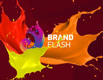 site design for Brand Flash