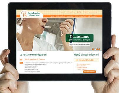 Gustolandia Ristorazione website