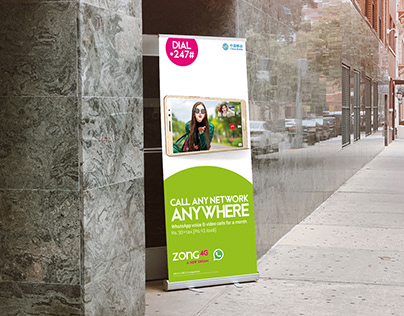 Standee Design | WhatsApp Campaign | ZONG 4G