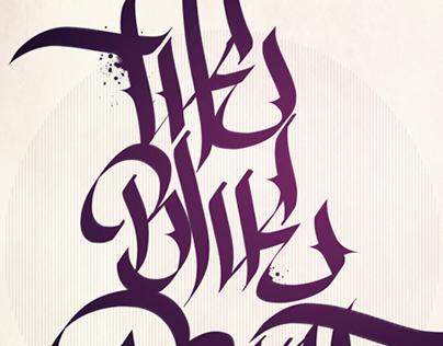 /// Black & purple calligraphy ///