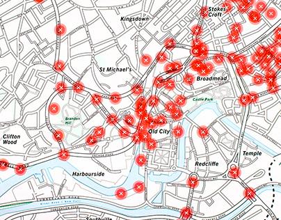 CCTV Map of Bristol city centre