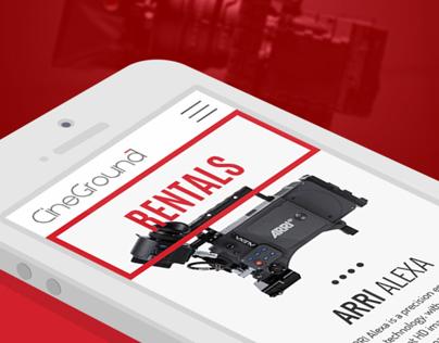 Cineground | Responsive redesign camera rental website