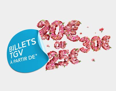 Illustrations SNCF Fleurs