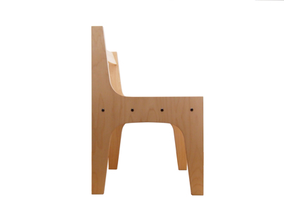 Vertical birch chair