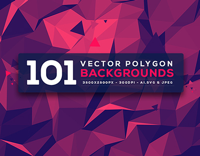 101 Vector Polygon Backgrounds