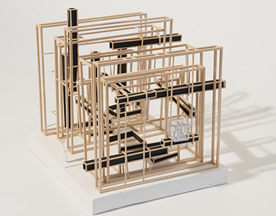 """Stickframe Model of the Concept """"Enigmatic"""""""