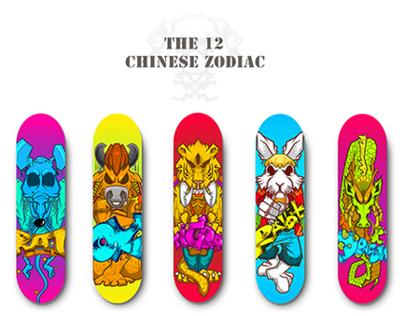 [The 12 Chinese Zodiac]滑板設計