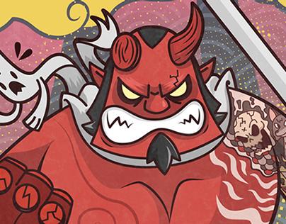 Hellboy 20th Anniversary illustration