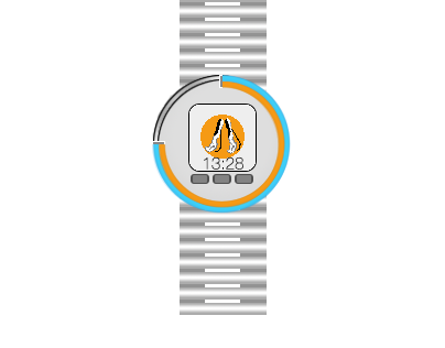 Portal Inspired 8bit Watch