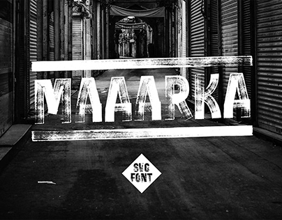 Maaarka - Dry chisel marker style SVG font