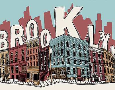 Brooklyn - Be Here Now City & Landmark Art Print Series