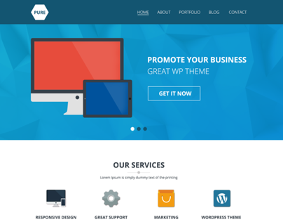 Pure - One Page PSD Template