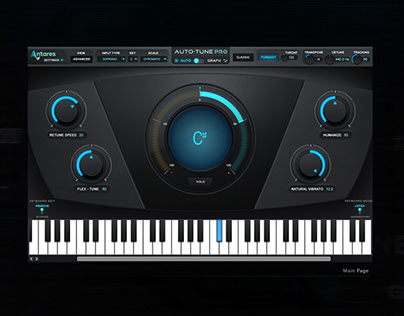 Auto-Tune Pro User Interface for music interface design