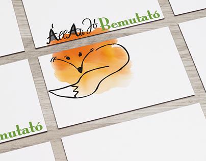 """""""Állatijó Bemutató"""" playful presentation for kids logo"""
