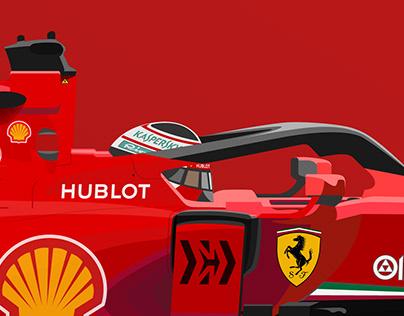 Ferrari SF1000 illustration
