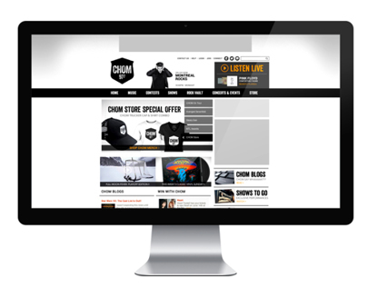 CHOM 97 7 Website Rebrand