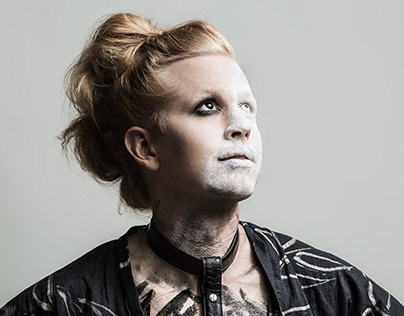 Futuristic Goth Male Geisha Photoshoot
