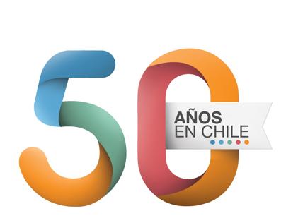 Logo 50 años / Manpower en Chile