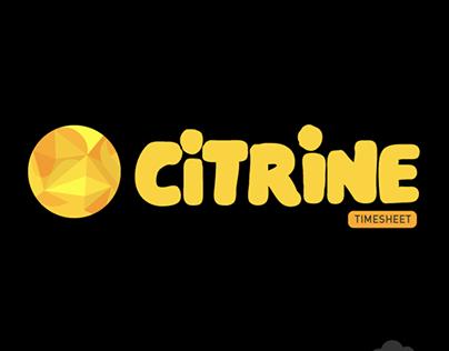 CITRINE Timsheet Logo | BlackCloud