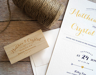 Crystal & Matt Wedding Invitations