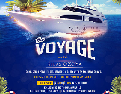 Yatch cruise Flyer design