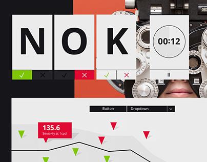 UI design mood for a next generation vision testing app
