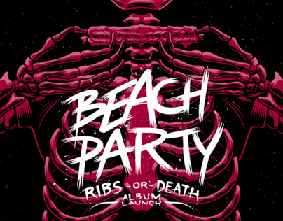 Beach Party 'Ribs or Death' Launch Poster