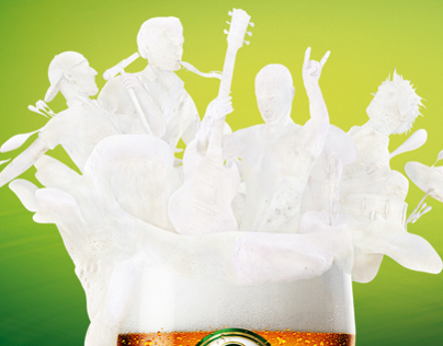 Staropramen Beer foam people 2