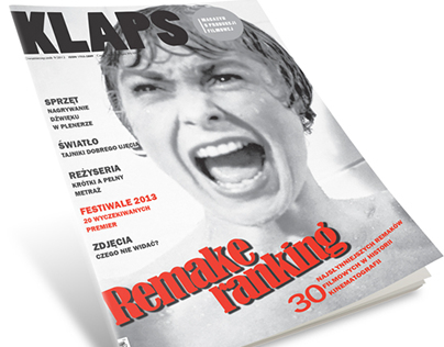 KLAPS film production magazine layout
