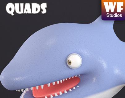 Cartoon Dolphin - For Sale